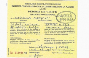 Gorilla Trekking Permits in Congo Virunga National Park Congo