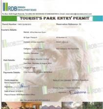 A Rwanda gorilla trekking permit