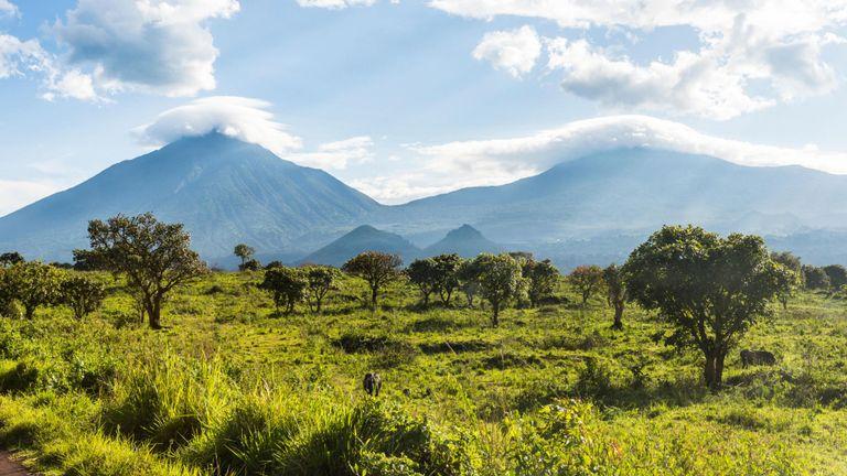 Virunga Ranges in Virunga National Park Congo